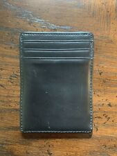 Clarks Black Leather Slim Credit Card Holder Wallet ** Free Shipping **