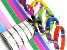 ID Kautschuk Armband in 13 Farben mit Edelstahlplatte mit Gravur nach Wunsch