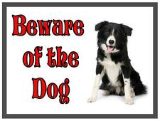 Border-Collie Beware of the Dog Design Metall Türschild
