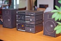 Retro Technics mini Stereo System - Amplifier/Tuner/Cassette/Equalizer