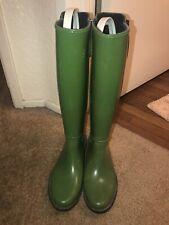 Michael Kors~Women's~Rubber~Rain Boots~Green~Size 8