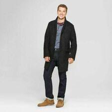 Men's Unlined Notched Lapels Button~Front Overcoat Jacket Goodfellow Sz MED & LG