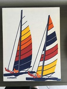 Marushka Unframed Multi Color Sailboat Framed Canvas