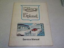 1975 CHRYSLER LeBARON DODGE DIPLOMAT CORPERATION SERVICE MANUAL