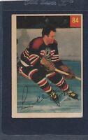 1954/55 Parkhurst #084 Lee Fogolin Blackhawks VG 54PH84-122015-1