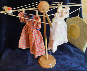 Doll Clothes Line With Clothes Pins And Bag Doll Laundry Doll Size