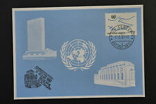 UN UNO Geneva Solothurn 1985 special frank blue card 17/5/1985 blaue karte