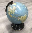 "Vintage REPLOGLE Simplified 8"" Globe tin litho / all metal / 1950's era"