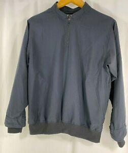 Zero Restriction Women's Black L/Sleeve 1/4 Zip Windbreaker Pullover Made USA S