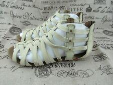 Cat Caterpilar Ivory Leather Gladiator Weavement Sandals Size 8 / 39 W