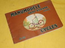 Ancien catalogue MANUMODELE Cycles N°23, 1936,vélo St Etienne, manufrance
