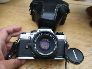 Olympus OM10 35mm SLR Film Camera with 50mm f1.8 Lens