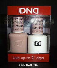 DND Daisy Soak Off Gel Polish Oak Buff 596 full size 15ml LED/UV gel duo set NEW