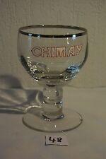 C43 Rare verre à Chimay émaillé brasserie