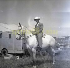 1951 Horse and Rider - Clyde Beatty - Vintage Circus Negative