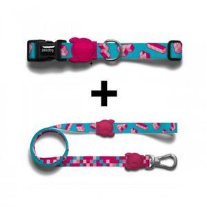 Zee Dog Matching Collar & Leash set, Various Sizes / Colours