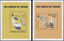 MONGOLIA BLOC N°283/284 Bf Train Rocket Eurostar, VERY GOOD 2000 SHEET MNH