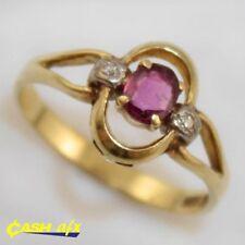 Ruby Multi-Tone Gold Fine Rings