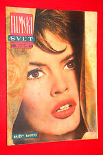 BRIGITTE BARDOT ON COVER 1959 MEGA RARE EXYU MOVIE MAGAZINE