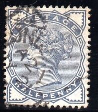 Machine Cancel Great Britain Victoria Surface-Printed Stamps