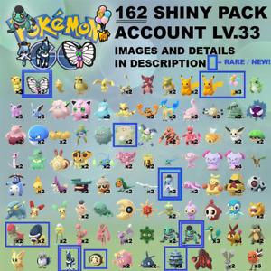 Pokémon Go Account SHINY x162✨ BLITZLE BUTTERFREE KIRLIA CRANIDOS SHIELDON PIKA