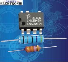LNK304-305-306-364GN. mit Leistungswiderstand:33,47,100R und Drossel:470-1000µH