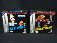 Donkey Kong & Ice Climber Nintendo Game Boy Advance GBA Classic NES Series CIB!