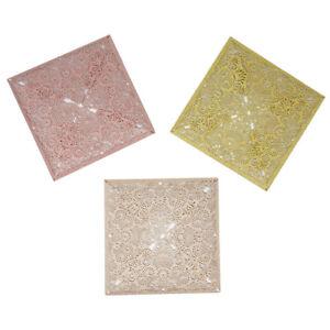 Square Glitter Laser Cut Blank Invitations, 6-Inch, 8-Count