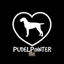 Pudelpointer I Love Vinyl Sticker Decal Akc Registered Dog Breed