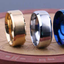Unique Men Stainless Steel Ring Band Titanium  Size 6 to 13 For Wedding Party