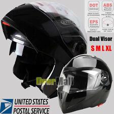 DOT Carbon Fiber Look Flip Up Modular Full Face Motorcycle Helmet Size S/M/L/XL
