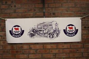 morris family eight series large pvc  WORK SHOP BANNER garage   car show banner