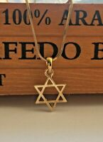 Jewish Israel Necklace Magen David Star of David Gold Tone