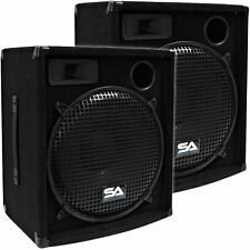 "Seismic Audio Pair 15"" PA DJ KJ Speakers 600 W NEW PRO Audio Speaker"