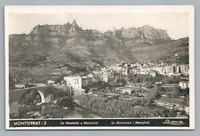 Montserrat CATALONIA Antique Spain RPPC Tarjeta Postal Foto Photo 1930s