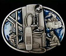 LINEMAN BELT BUCKLE BUCKLES FINE PEWTER DETAILED NEW!