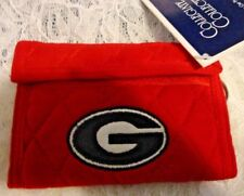 Georgia Bulldog Red Soft Quilted Wallet for Driver License, Money,& Key Chain