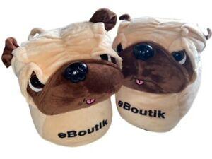 Pug Slippers Soft & Comfy Puppy Dog Pug Design Small UK 3 - 6 Christmas Gift
