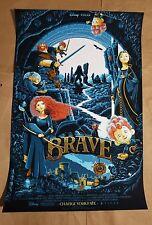 DISNEY PIXAR BRAVE #/75 Screen Print movie poster Mondo Artist Patrick Connan