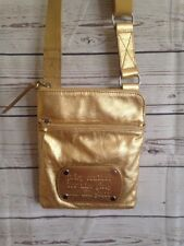 Juicy Couture Gold Metallic Crossbody Soft Leather Bag Purse