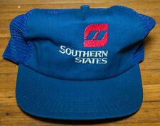 Vintage Southern States Snapback Mesh Trucker Hat Baseball Cap Advertising Promo
