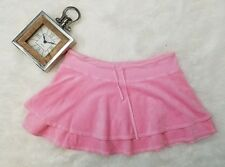 Juicy Couture Skirt M Velour 2 Tier Pink Mini Drawstring