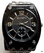 Elgin Men's Crystal Accented Ionic Watch and Matching Bracelet: FG9752ST