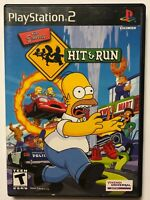 Simpsons Hit & Run Black Label Complete w/ Case & Manual! PlayStation 2 PS2