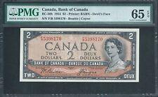 "CANADA, Bank of Canada $2 1954 BC-30b ""Devils Face"" PMG 65 EPQ Gem Unc"