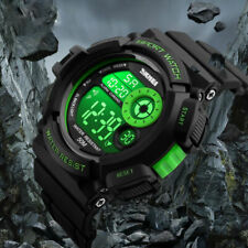 Men's Green Army SHOCK Sport Quartz Wrist Date Digital Watch Waterproof Military