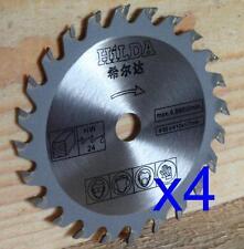 Four 85mm x 10mm Bore x 24T Wood Cut Circular Saw Blades for Mini Circular Saw