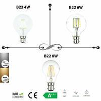 4W 6W 8W G80 GLOBE B22 FILAMENT LED LIGHTS BULB VINTAGE EDISON BAYONET LAMPS