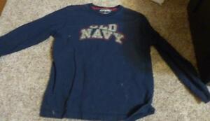 Boys Old Navy Size Small S Navy Blue Long Sleeve Shirt
