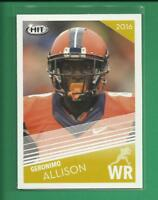 Geronimo Allison RC  2016 Sage Hit Rookie Card # 48  Green Bay Packers WR